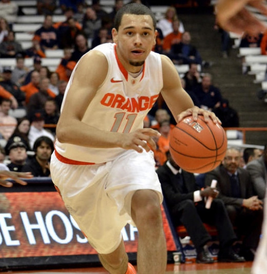 Pictured: all of Syracuse's eggs (freshman point guard Tyler Ennis)