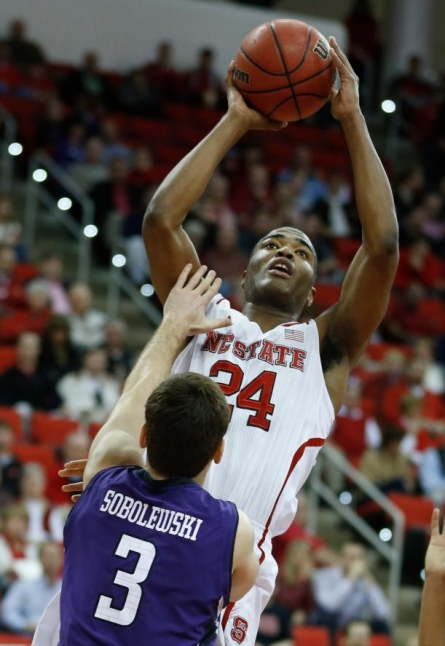 NC State sophomore forward T.J. Warren
