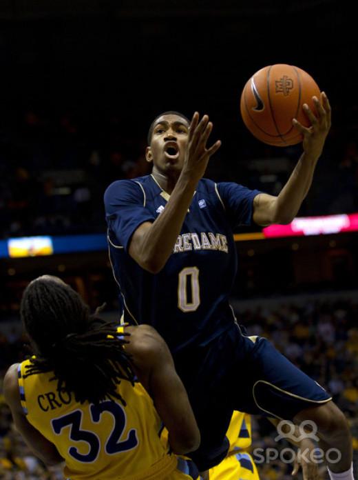 Notre Dame senior point guard Eric Atkins