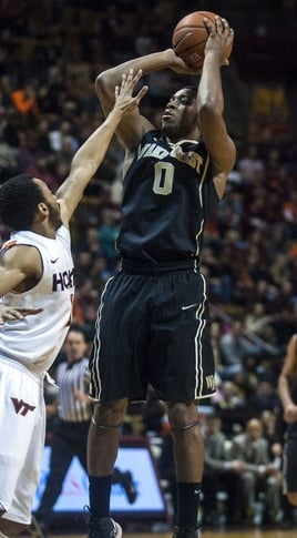 Wake Forest sophomore point guard Codi Miller-McIntyre emerging clean on the other side