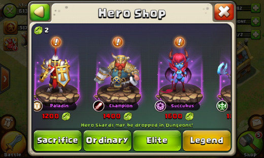 Heroes in Castle Clash. The full set can be viewed in your Heroes