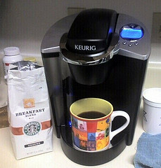 Keurig small coffee maker    photo by mattboudreaux flickr.com