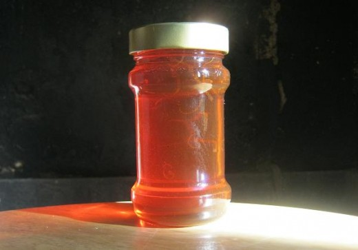 Medlar jelly reached setting point - just