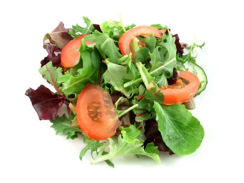 Eating a low fat and healthy mixed salad doesn't have to be boring. Add your favorite choices such as sweetcorn, lentils, kidney beans and some meat or cheese.