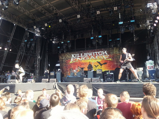 Killswitch Engage performing in 2013.