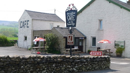 Pen-Y-Ghent Cafe at Horton-in-Ribblesdale, 'clocking-on' point for walkers in this Three Peaks area of North Yorkshire