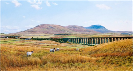 Ribblehead Viaduct - more on this feature in another of the TRAVEL NORTH Hub-pages