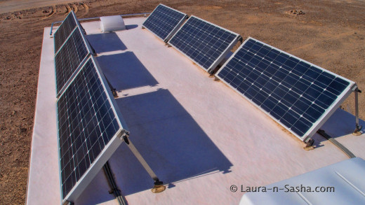 Solar Panels on the top of our Roof