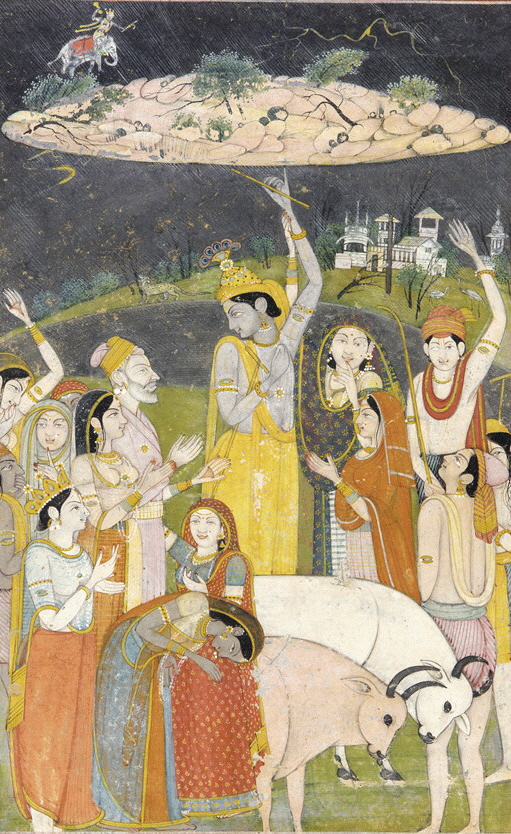 The realm of Krishna - the lifter of Govardhana Hill