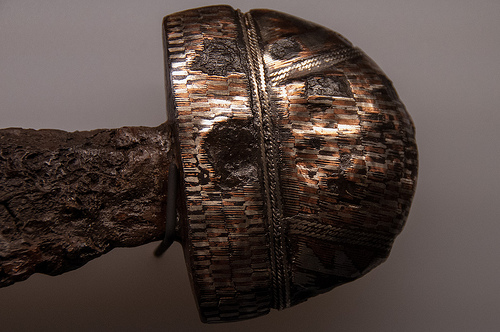 Viking sword pommel, crafted for a high-born warrior