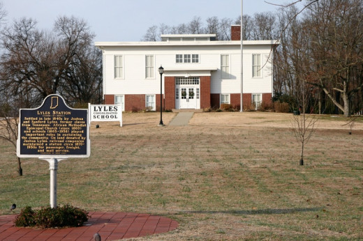 The former Lyles Station School is now a Museum