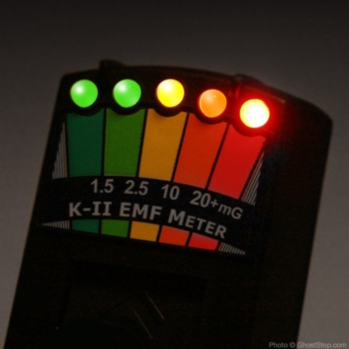 An EMF reader is used by ghost hunters to help detect paranormal activity.