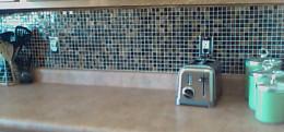 Tile backsplash from a DIY project
