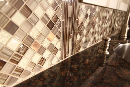 Complex but unique home backsplash