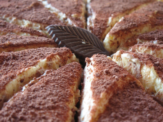 Having something with chocolate is a good idea. Tiramisu is a nice dessert that can be made in advance of your party.