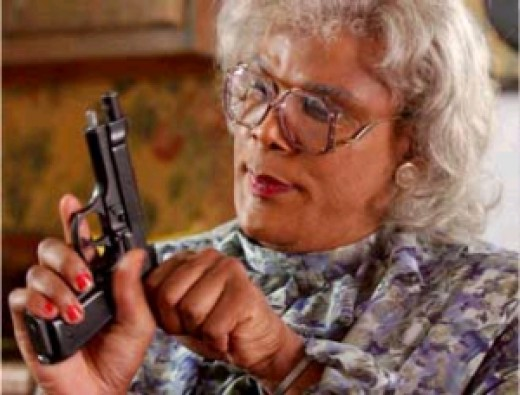 Madea is a character that is irreverent and a bit insane, and most normal people have those moments, even if they aren't so normal.