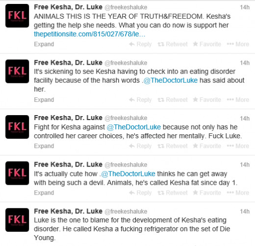 Allegations from the Free Kesha Luke movement