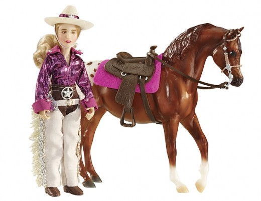 A cowgirl horse doll is perfect for young girls