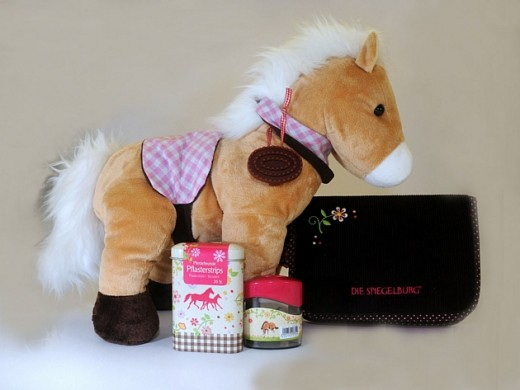 This horse teddy, pencil case and gift set would be ideal