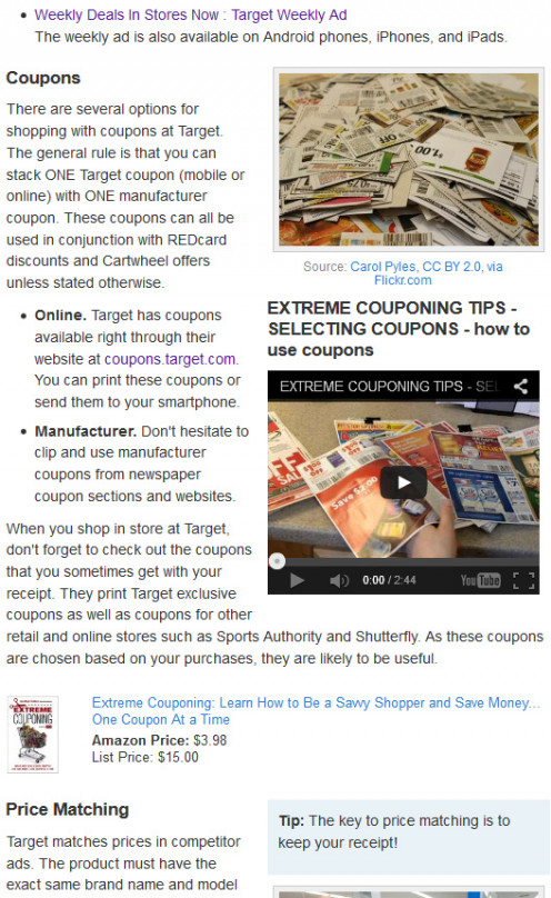 In this single screen shot from one of my HubPages articles, you can see text, link, photo, video, and product capsules, all deliberately arranged to engage readers.