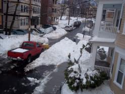 Shoveling snow is hard work