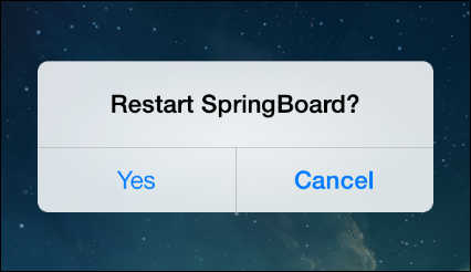 By swiping the home screen upwards, you can as well restart the springboard, allowing you to refresh your iPhone