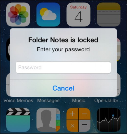 In the example above, a password has been set to open  the Notes app using Applocker