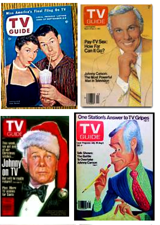 Carson graced many a TV Guide cover