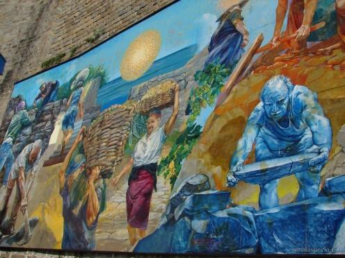 Mural by Silvio Benedetto at Riomaggiore