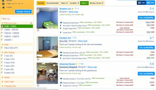 Bangkok Hotel For $10 or less