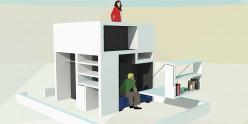 Compact but luxury kids bedroom design - prefab concept