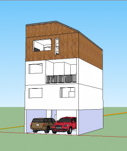 7x11m Large Family, Small House Design: Ideas, Floor Plans and 3D Pictures