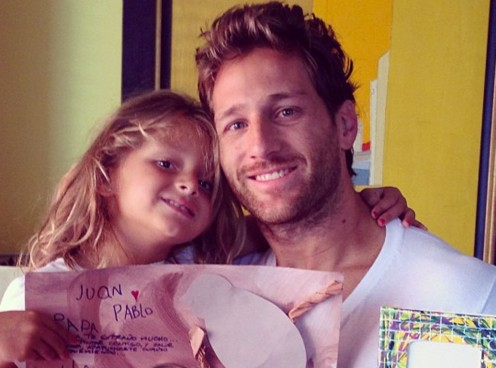 Juan Pablo and His Daughter