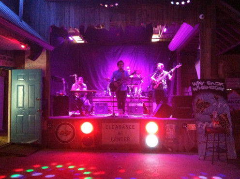 The band plays at Harry A's on St. George Island along Florida's gulf coast.