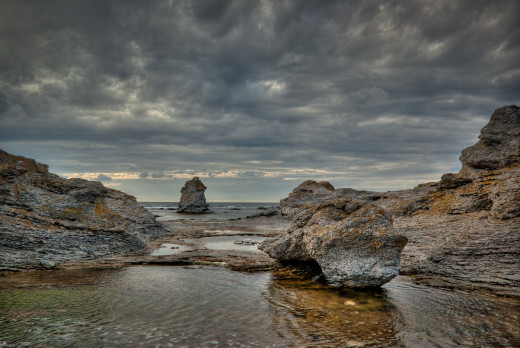 Image by Jens Auer of Gotland's rocky shore