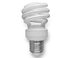 Typical compact Fluorescent Lamp.