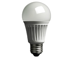 Typical LED light bulb.