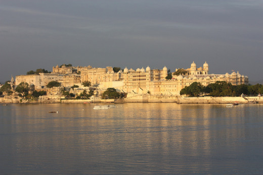 The majestic Udaipur City Palace