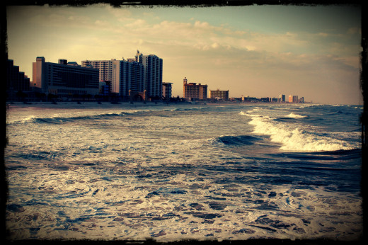 Daytona Boardwalk and Surf. Photography by Brandon Gurr