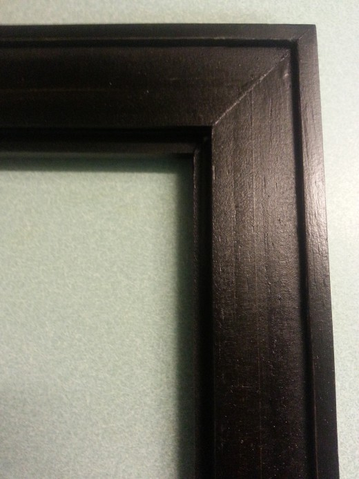 Back of Wood Picture Frame (notice the inlay here, which helps in securing the screen).  This is the kind of picture frame I prefer.