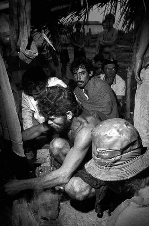 Slavery- Sugar Cane Cutters in Brazil from Ricardo Funari flickr.com