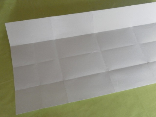 Next, unfold the whole paper.