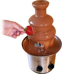 A chocolate fountain is a good idea for a teenage get together