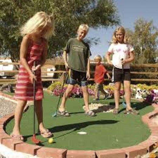 Mini golf is great for children