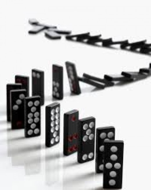 Dominoes are fun to play with