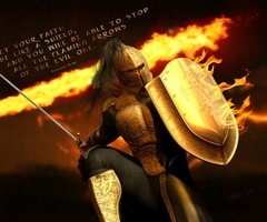 Rather put on the whole armor of God.