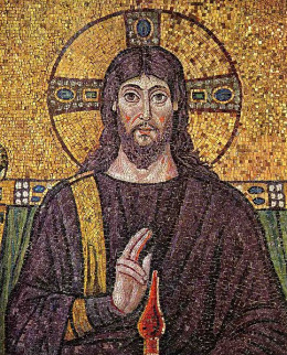 Mosaic depicting Christ in the Basilica of Sant'Apollinare Nuovo, Ravenna, Italy