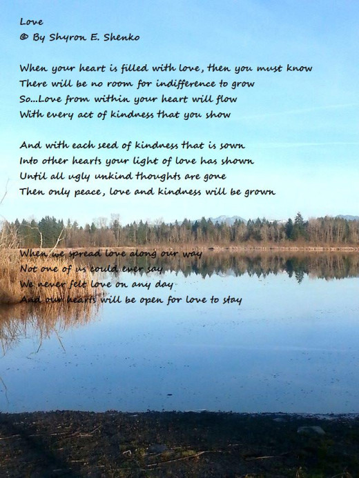 Photo by My friend Maureen  Poem by Shyron E. Shenko