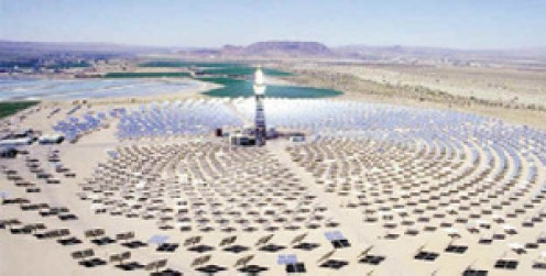 A design for a Solar Power Plant considered for the Navajo Nation.