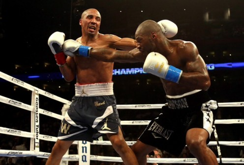 Andre Ward dominated and then knocked out Bad Chad Dawson in defense of his 168 pound championship. Dawson was the light heavyweight champion moving down in weight.